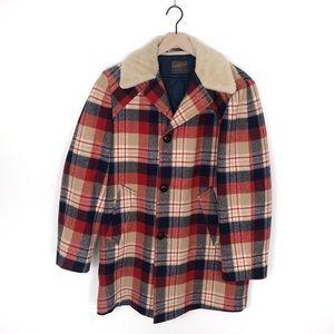Vintage Pendleton Plaid Wool Coat
